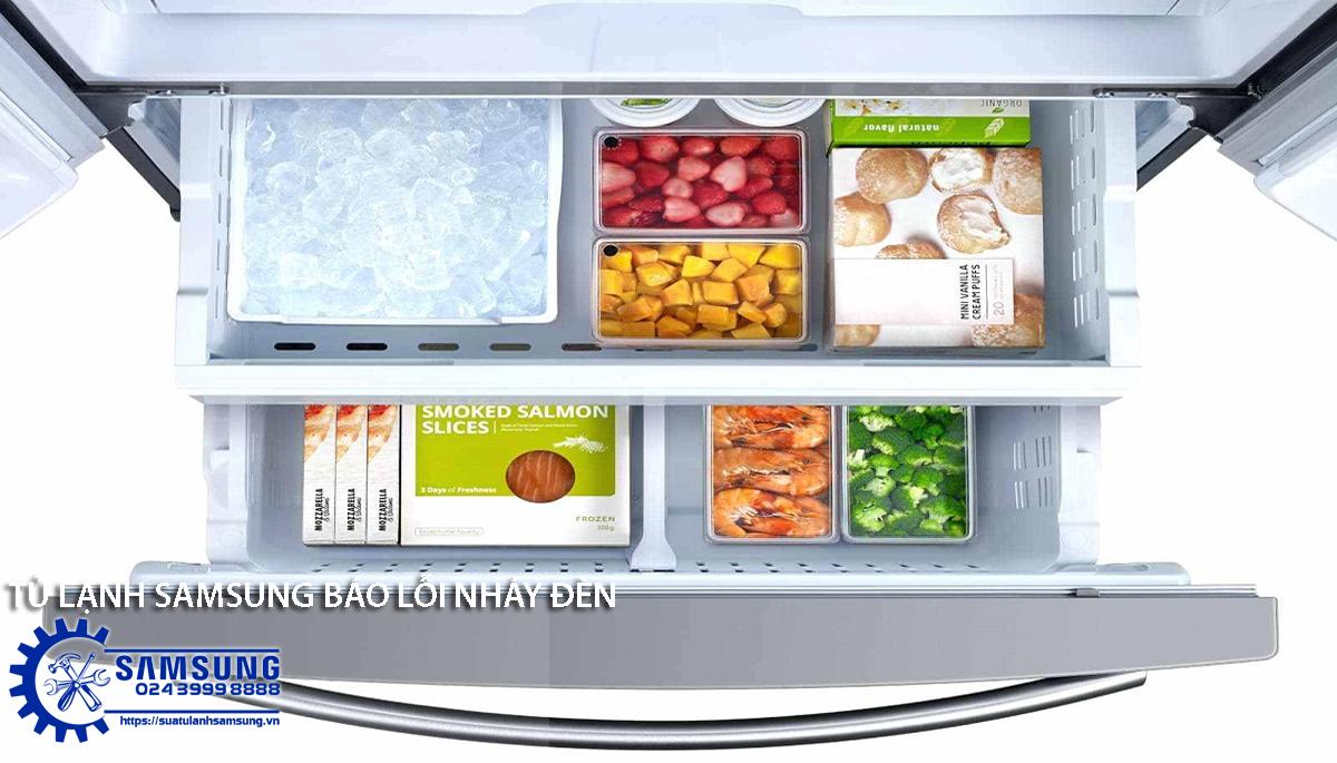 Vì sao tủ lạnh Samsung báo lỗi nháy đèn?